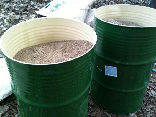 barrels and feed